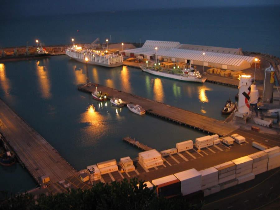 Puerto de Napier al anochecer