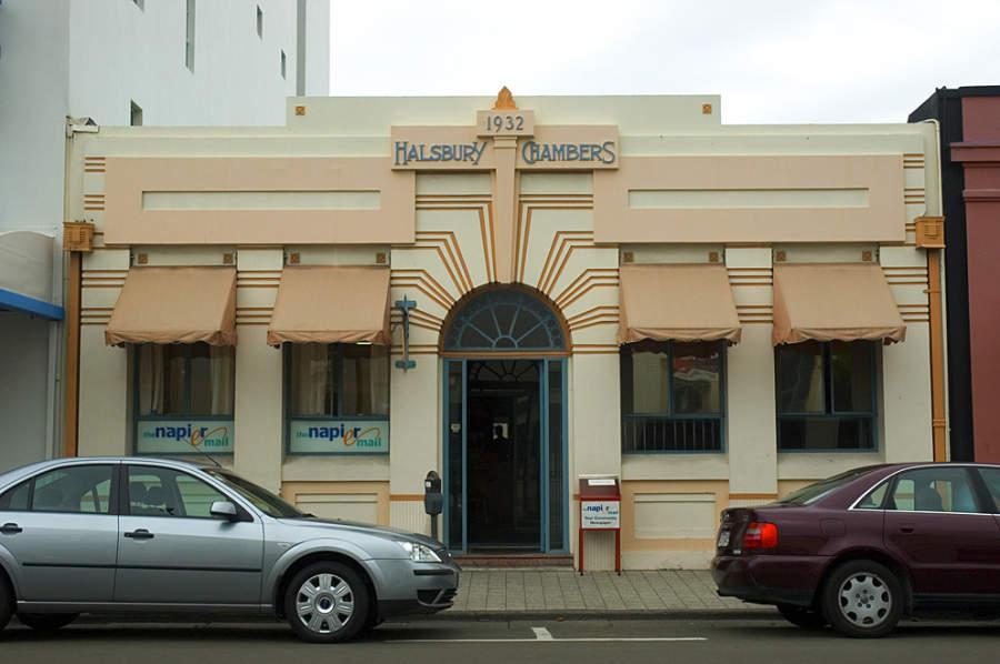 Halsbury Chambers, construcción emblemática de Napier diseñada por JA Louis Hay