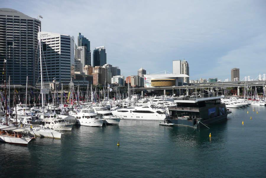 Marina en el puerto de Sídney