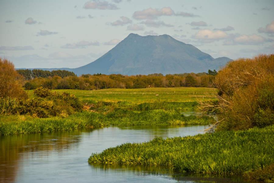 Vista del monte Putauaki