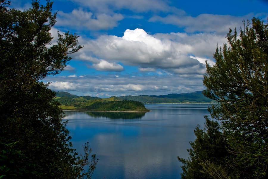 Vista del lago Rotoma