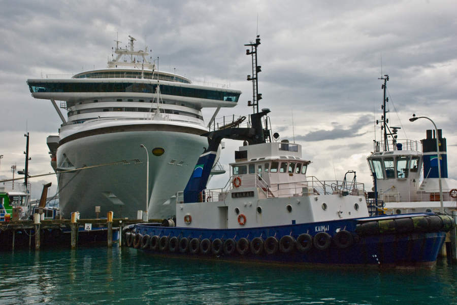 Crucero en el puerto de Tauranga