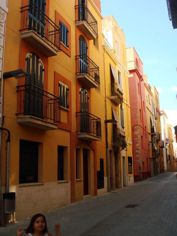 Calle en el centro de Palamós