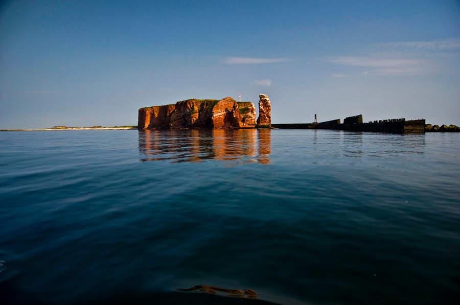 Heligoland es conocido por sus extrañas formaciones rocosas
