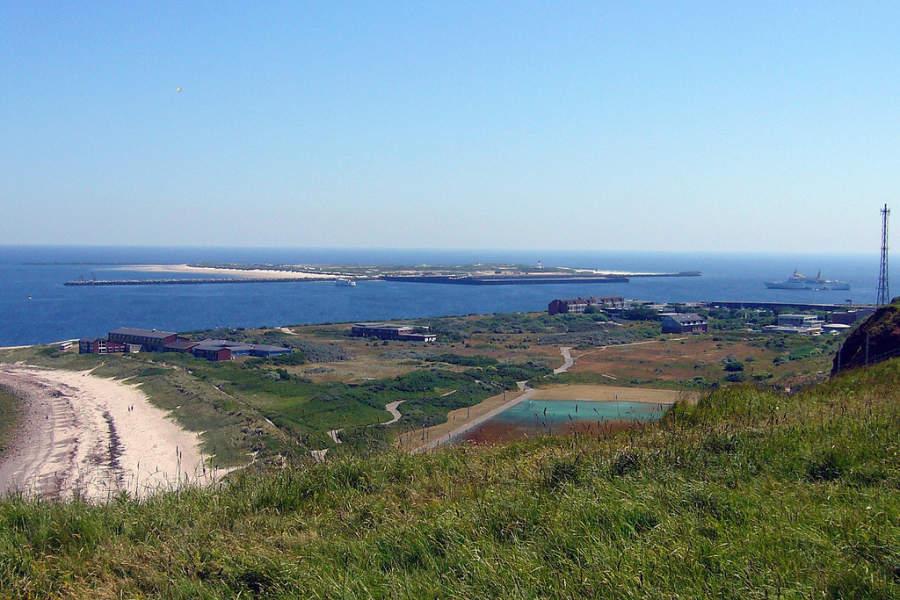 Vista panorámica hacia la costa de Heligoland