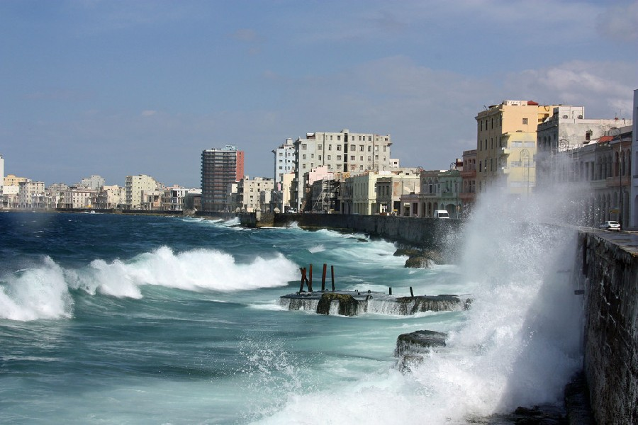 Malecón en La Habana