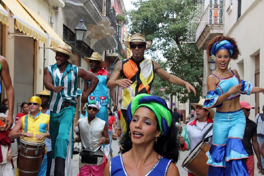 Bailarines cubanos