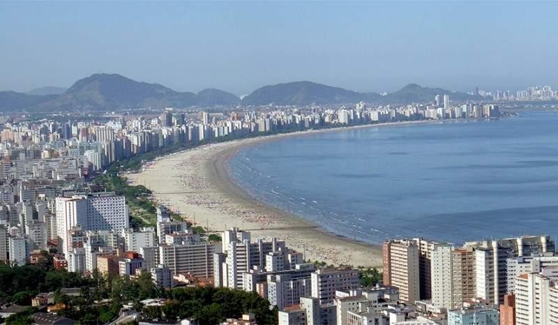 Vista panorámica de la costa de Santos