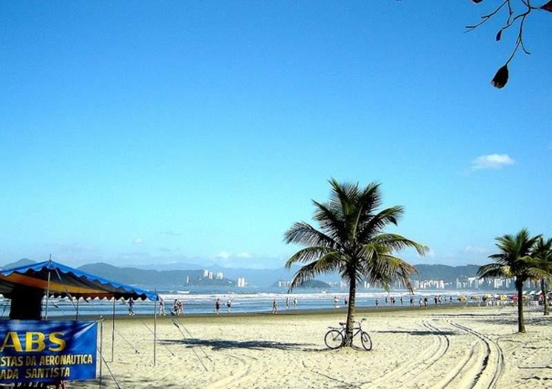 Praia do Embaré, famosa playa de Santos