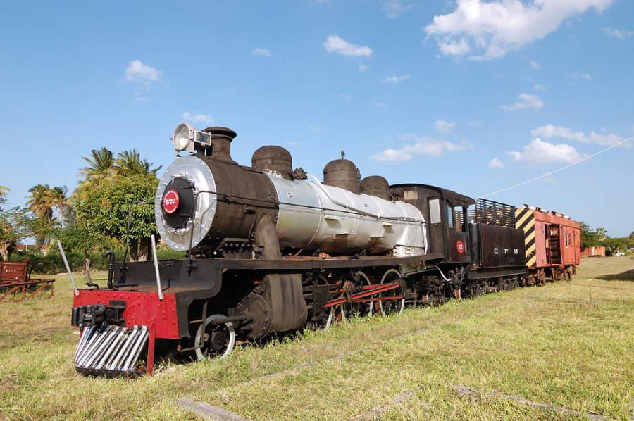 Locomotora de vapor en Inhambane