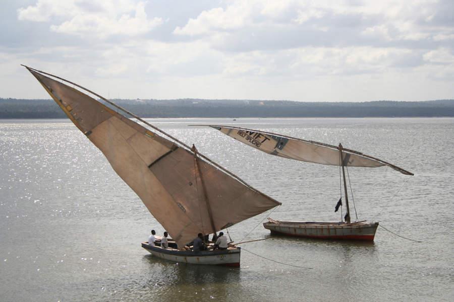 Embarcaciones en la bahía de Inhambane