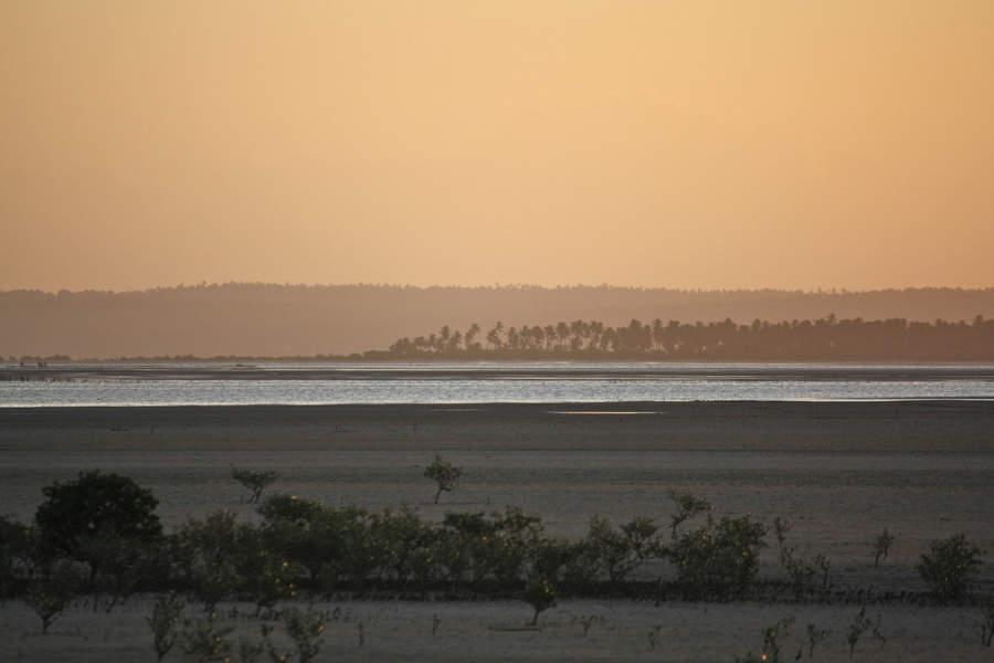 Atardecer en la bahía de Inhambane