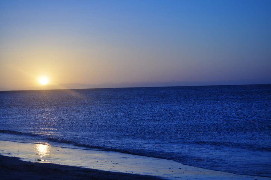 Vista del mar de La Paz