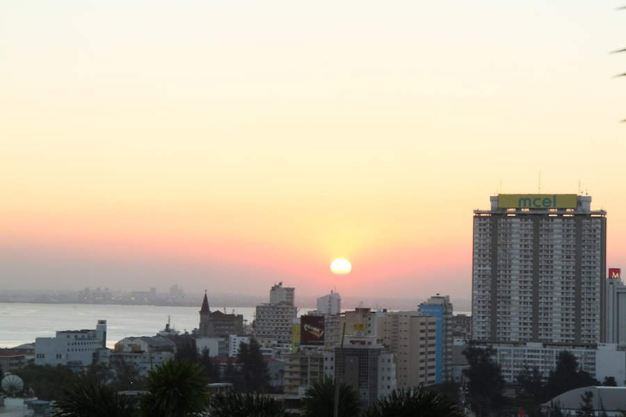 Atardecer sobre Maputo