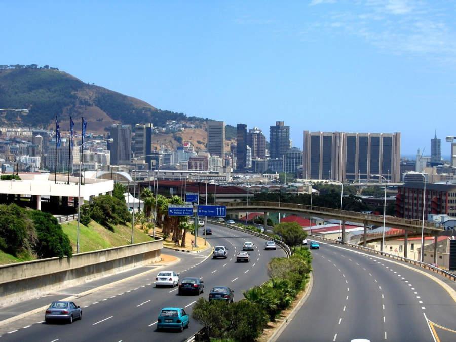 The N2, carretera de entrada a Ciudad del Cabo