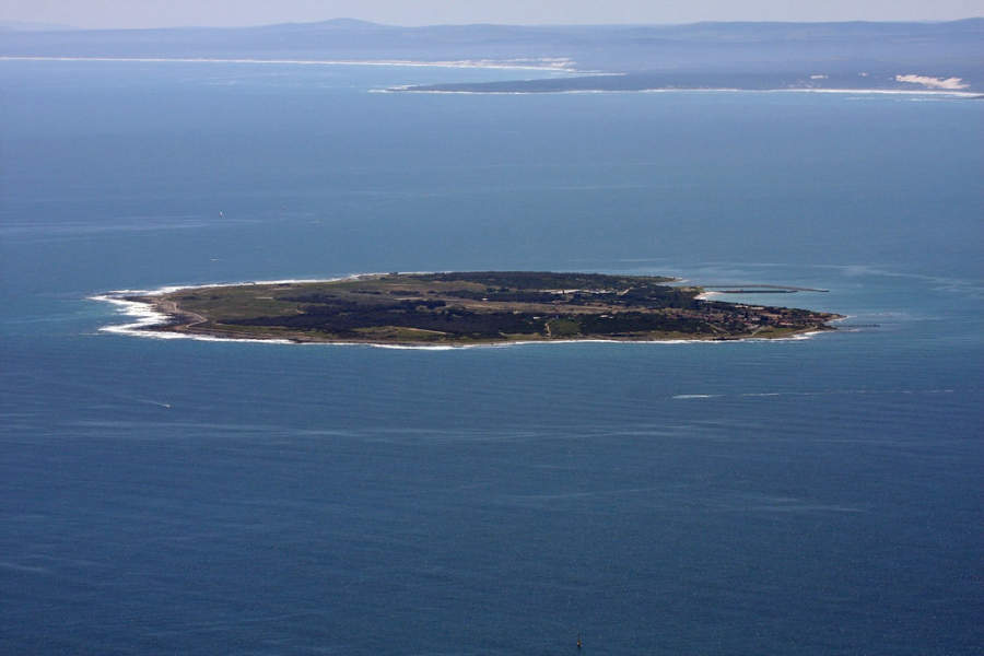 Famosa isla Robben en Ciudad del Cabo