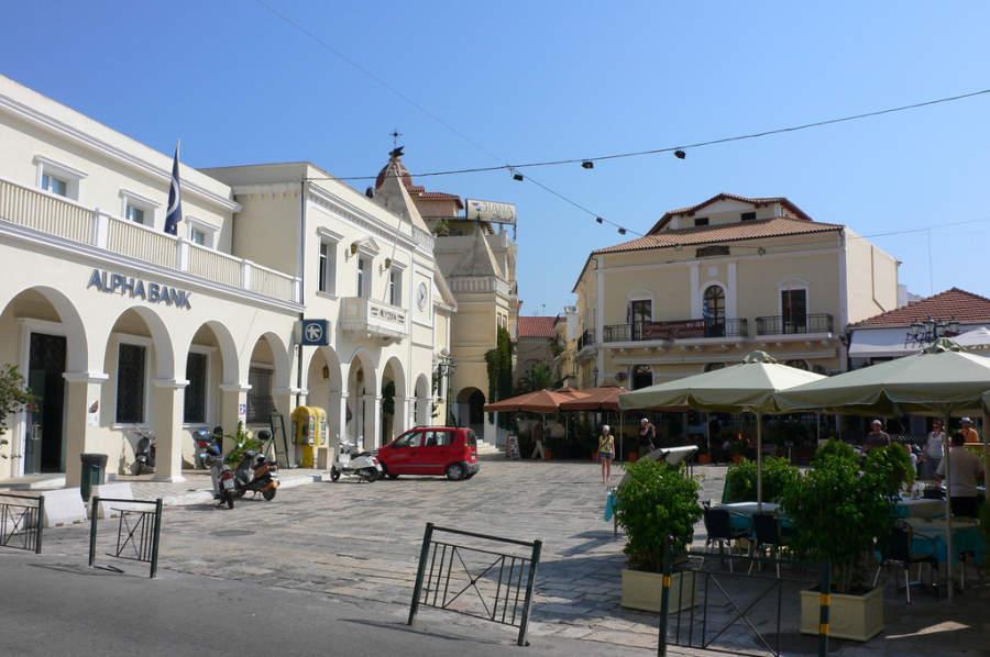 Área de restaurantes en Zante
