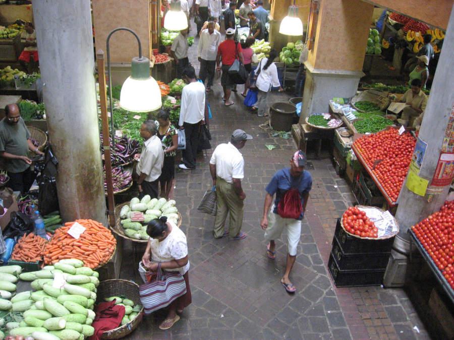 Mercado en Port Louis