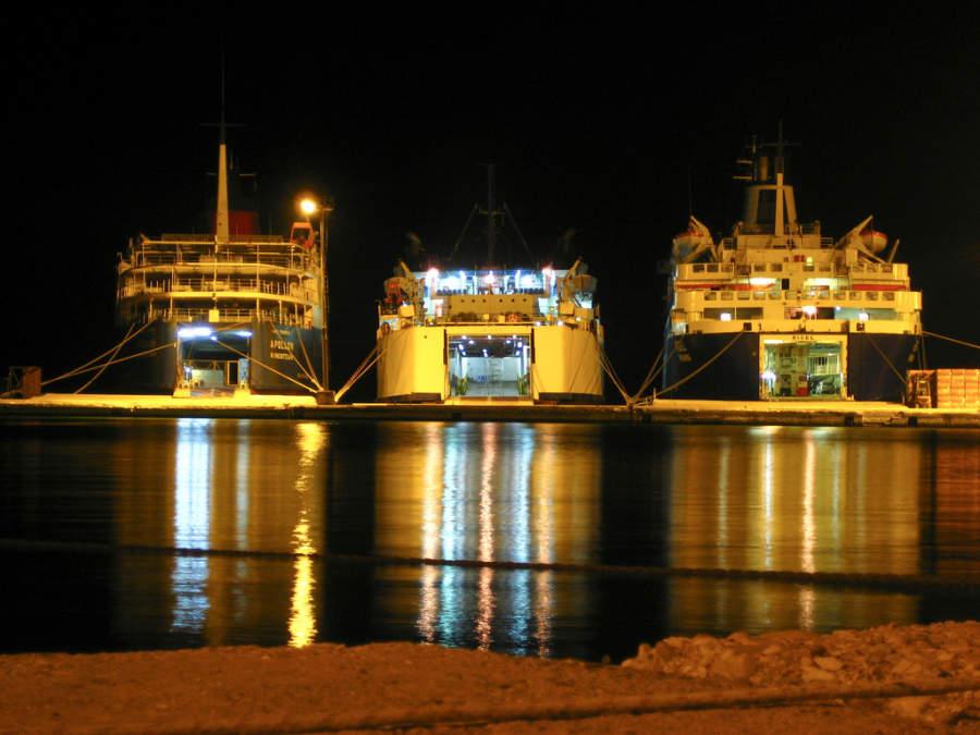 Cruceros en el puerto de Igumenitsa