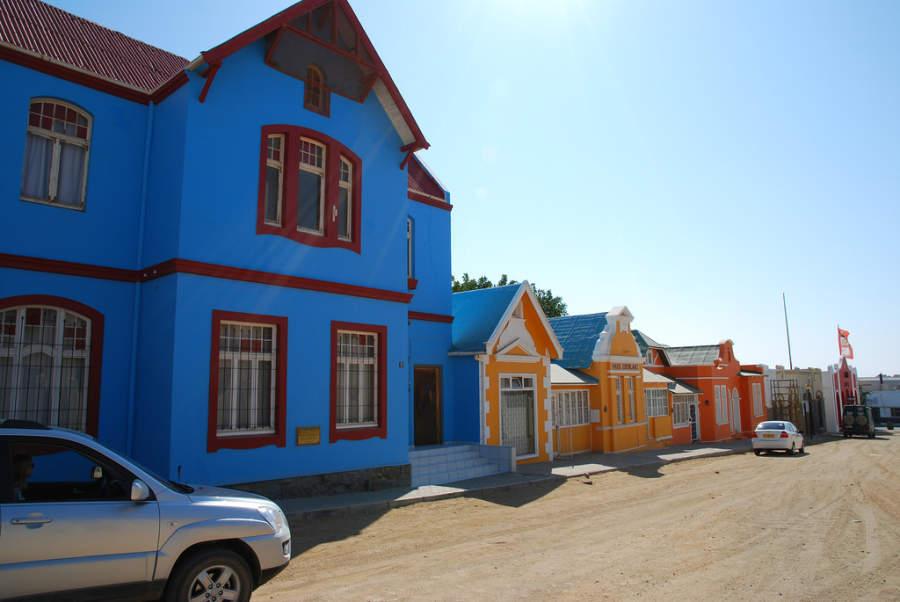 Coloridas casas en Lüderitz