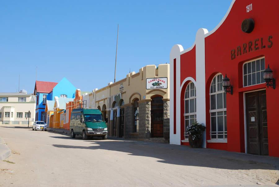 Antiguas casas de estilo alemán en Lüderitz