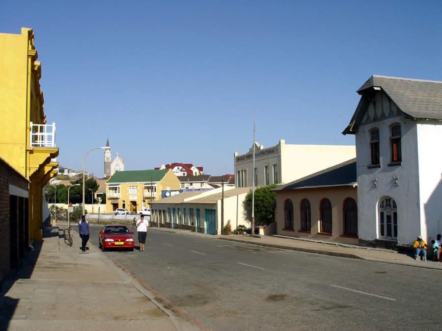 Avenida en Lüderitz