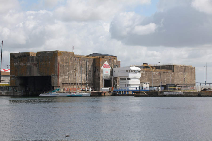 Puerto de bloqueo en Saint-Nazaire