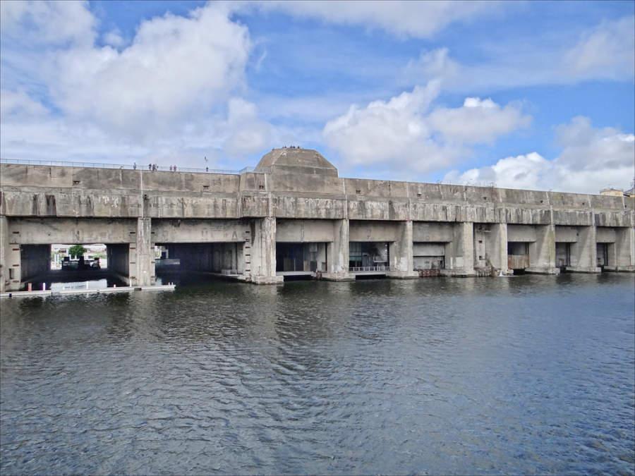 La base submarina de Saint-Nazaire es una gran fortaleza