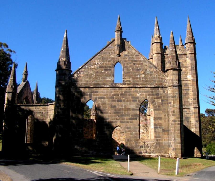Iglesia construida por los convictos de Port Arthur