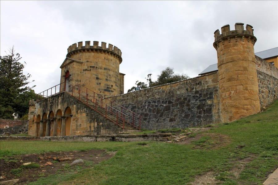 Vista exterior de la antigua prisión