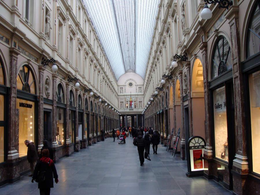 Galeries Royales Saint-Huber, galerías comerciales