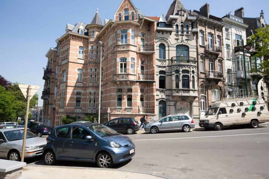 Fachadas de edificios en Bruselas