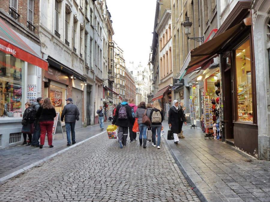 Avenida comercial en Bruselas