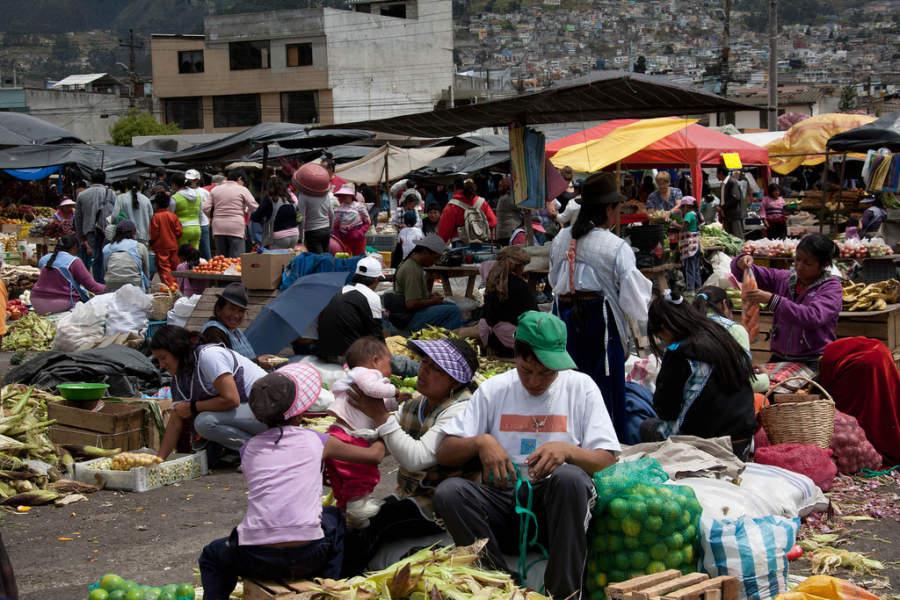 Mercado al aire libre en Quito