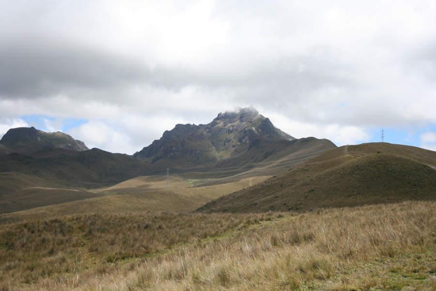 Volcán Pichincha cerca de Quito