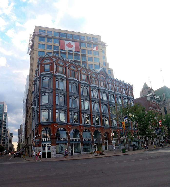 Una calle en el centro de Ottawa