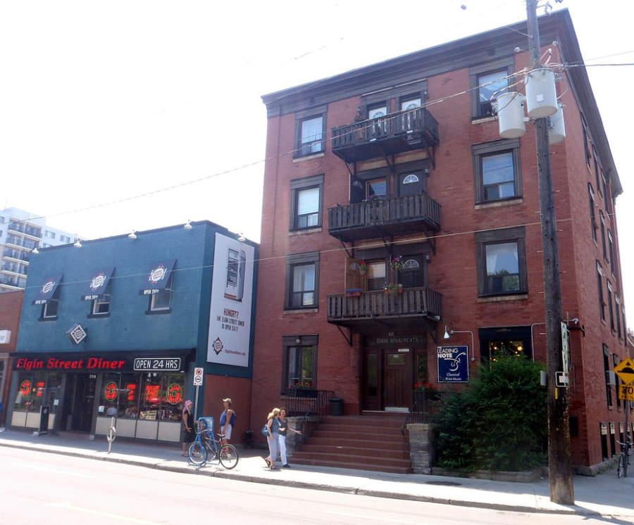 Un edificio de departamentos en Ottawa