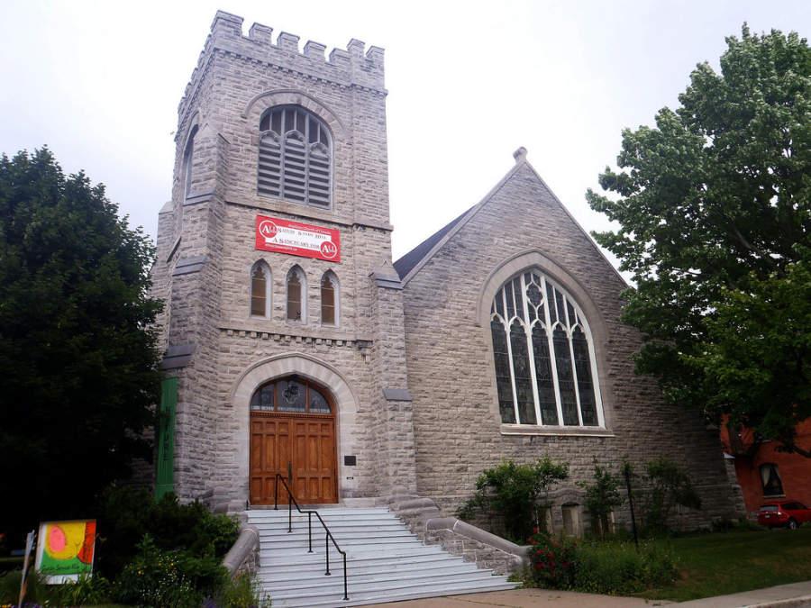 Una iglesia en la ciudad de Ottawa, Ontario