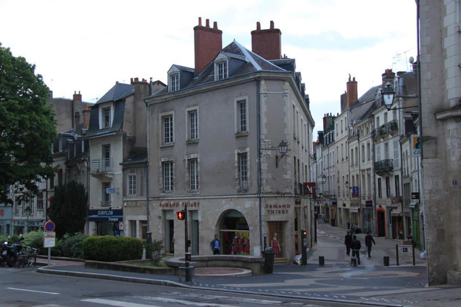 Calle peatonal en Blois