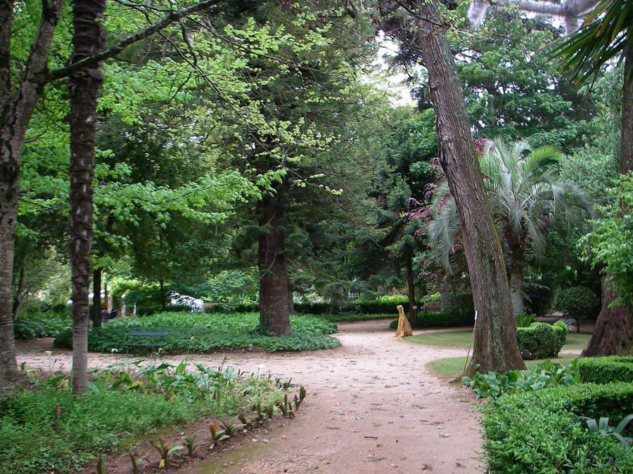 Jardín de Quinta das Lágrimas en Coímbra