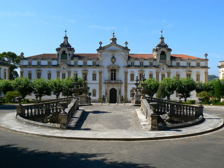 Fachada de Seminário Mayor en Coímbra