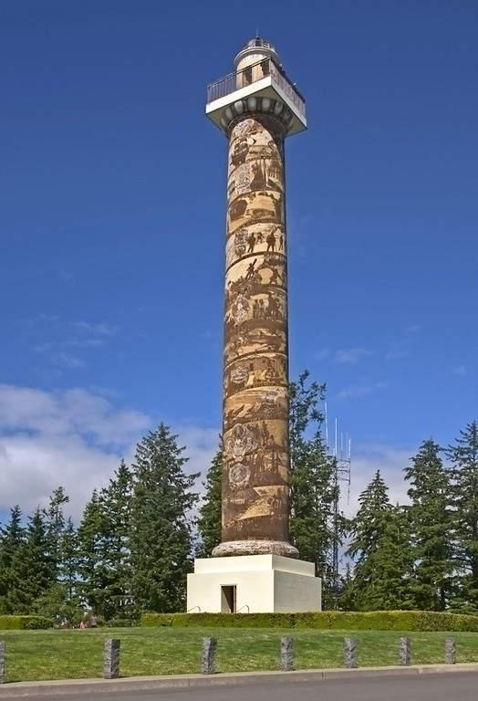 Astoria Column, torre en el monte Coxcomb