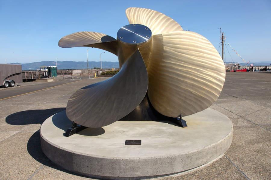 Bronze Propeller, monumento de la pesca en Astoria