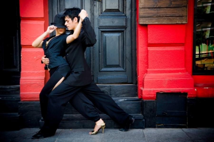 Bailarines de tango en Caminito, La Boca