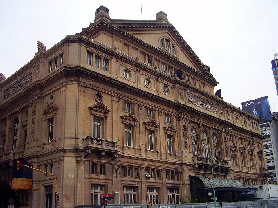 Teatro Colón en la calle Cerrito