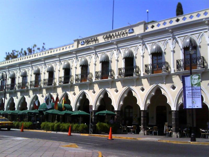 Portales en el centro histórico de Colima