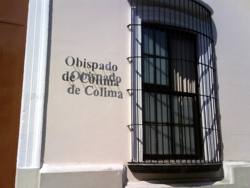 Vista exterior del Obispado de Colima