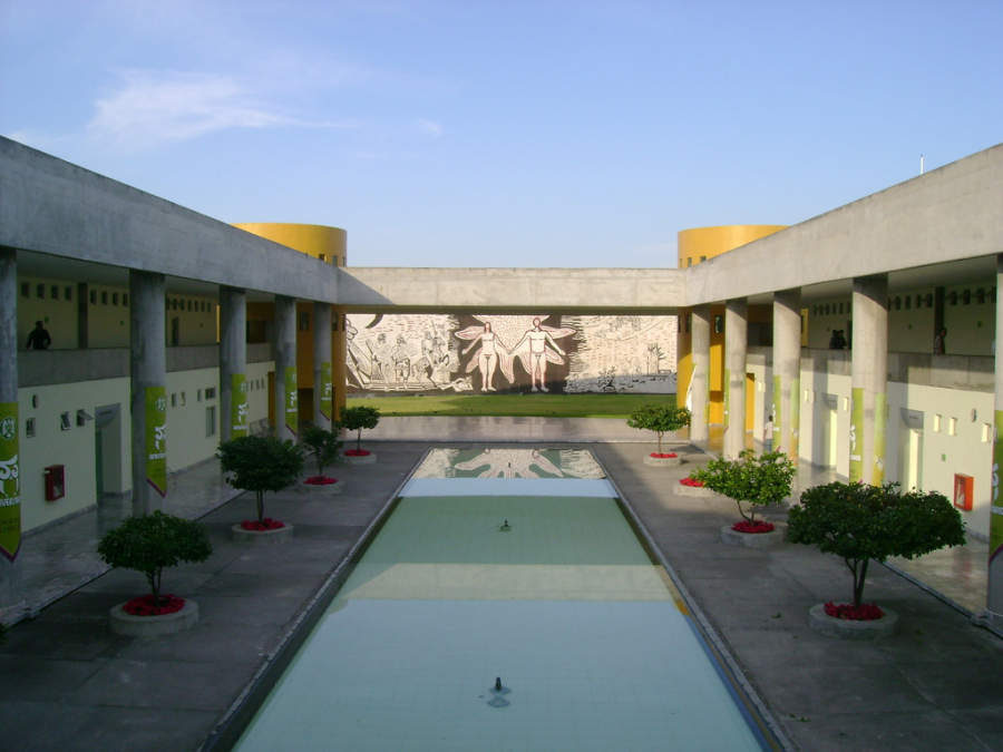 Interior de la Facultad de Derecho de Colima