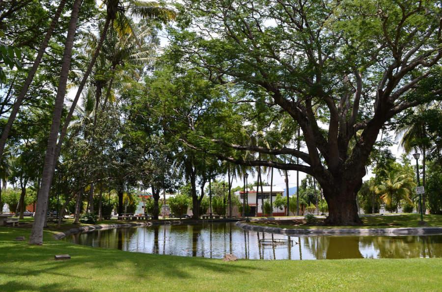 Jardín Hidalgo en la ciudad de Colima