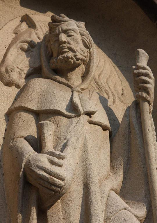 Detalle en la fachada de la Catedral de Colima
